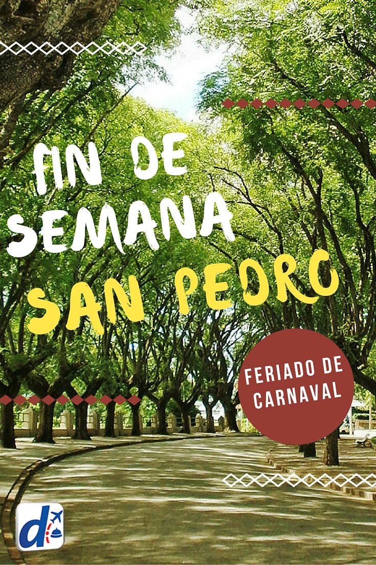 Aprovecha el finde largo de #Carnaval para relajarte en #SanPedro, un destino que combina su paisaje a orillas del río Paraná, con tradición y sitios de interés. Descubrí tips y alojamientos para pasar un #findesemana ideal #travel #trip #viajes