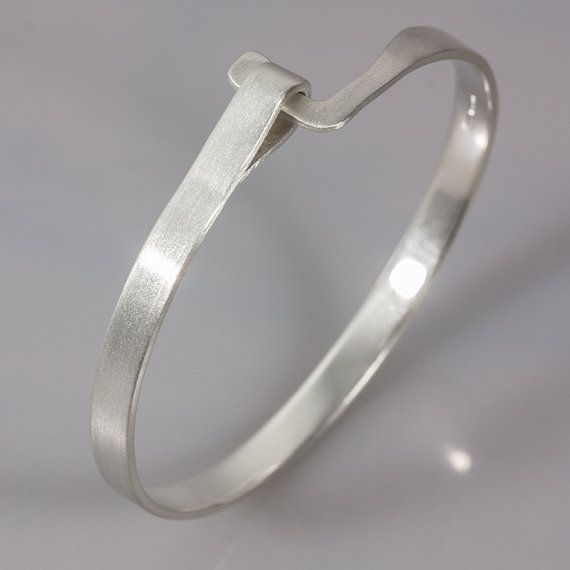 Engraved Loop Clasp Bangle by JewelleryBoutique on Etsy