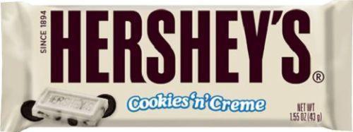 Hershey s Cookies n Cream Bar 43g, American White Chocolate Bar US Import