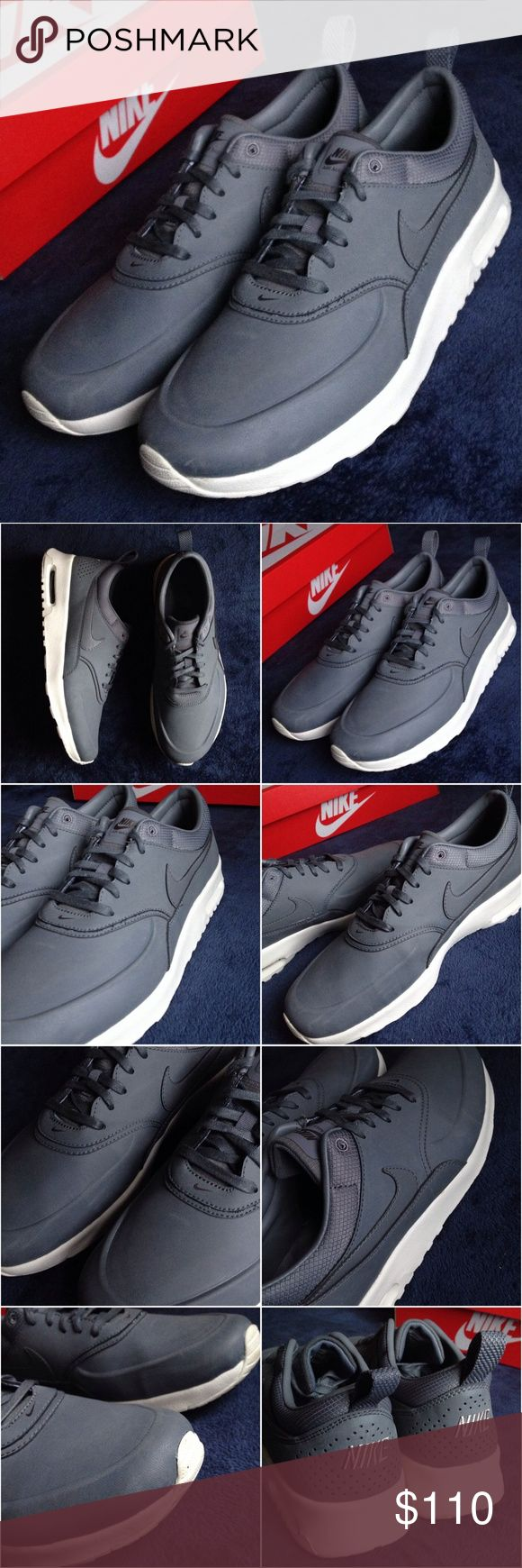 Nike Air Max Thea Premium Cool Grey Sneakers Brand: Nike Style: Air Max Thea Premium Size: US 9 Color: Cool Grey  These sneakers are in great condition; worn only once. Nike Shoes Sneakers