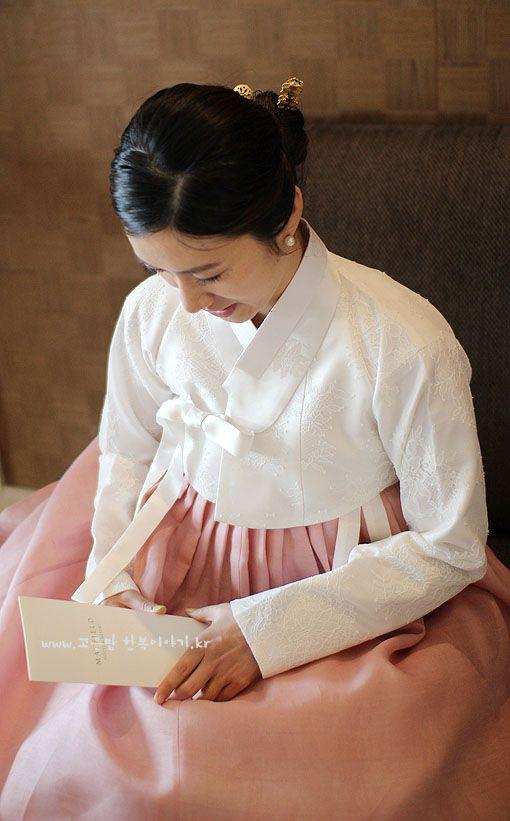 아름다운 흰레이스 저고리 : 네이버 블로그