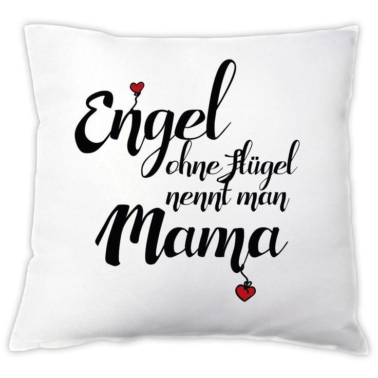 """Kissen """"Engel ohne Flügel nennt man Mama"""", Zierkissen, Dekokissen, Geschenkidee, Muttertagsgeschenk, Geschenk zum Muttertag, Geburtstag, zu Weihnachten, für die Mama, Mutter"""