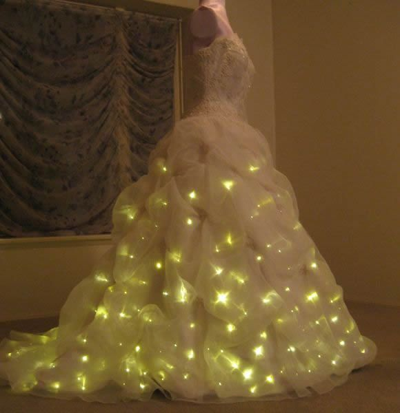 Lighted Wedding Dress: Enlighted Illuminated Clothing