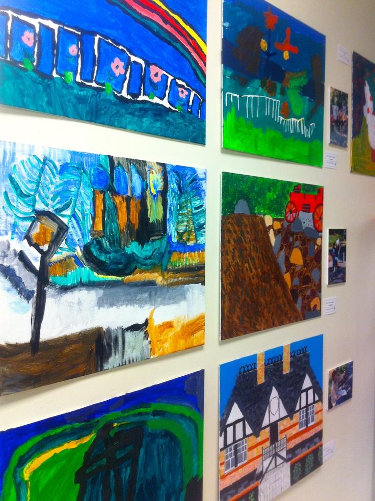 """2012-13 """"Plein Air"""" Workshop (acrylic paintings)."""