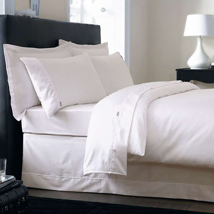 Dorma 500 Thread Count Cotton Satin Cream Bed Linen Collection | Dunelm
