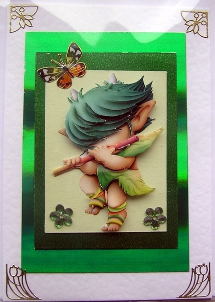 Hand-Crafted 3D Decoupage Card, how in the world did they do this?