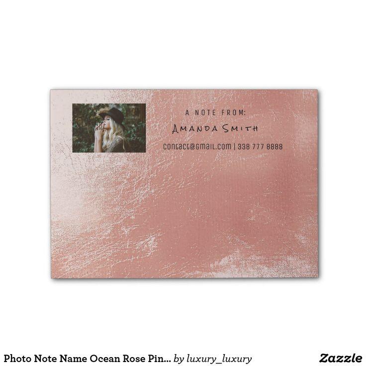 Photo Note Name Ocean Rose Pink Metallic Post-it® Notes