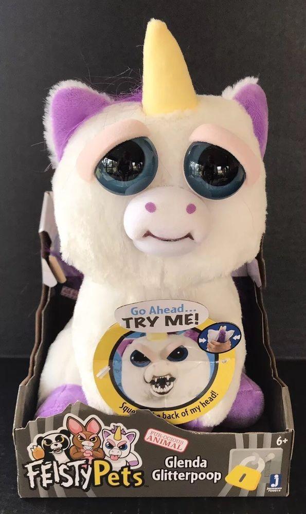 Fiesty Pets Unicorn Glenda Glitterpoop Plush Nib Hot Top Toy Cute Stuffed Animals Feisty Pets Unicorn Unicorn Plush