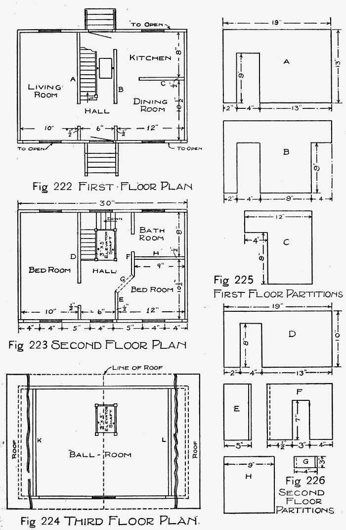 Mais de 1000 ideias sobre doll house plans no pinterest How to make plan for house