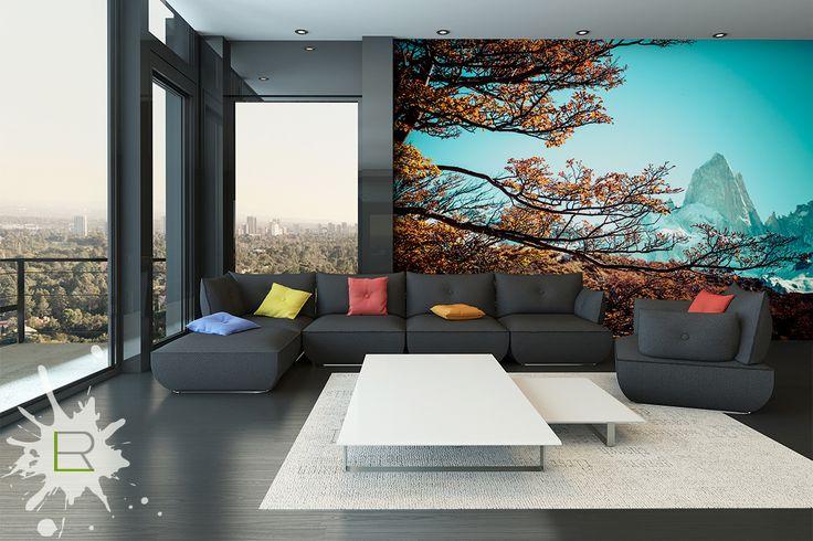 Fototapeta w salonie - gałęzie drzewa na tle nieba