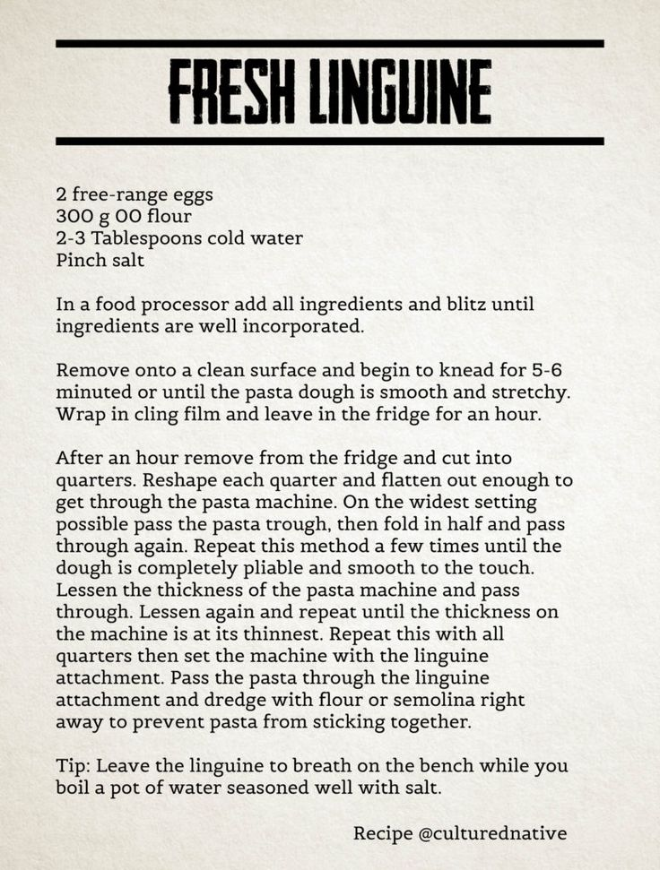 fresh linguine recipe