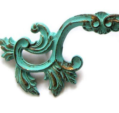 The Decorated House: How To Create Beautiful Turquoise Patina -