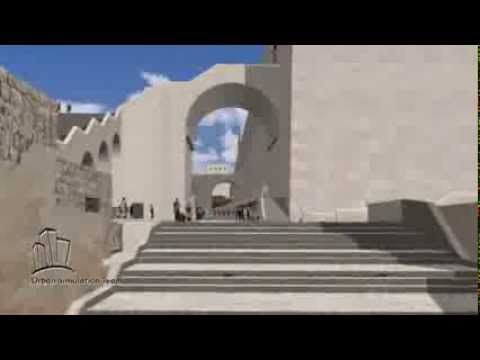 Virtual Reconstruction Of Second Temple Temple Mount - Deze weg liep Machla van de markt in de benedenstad, door het Kaasmakersdal, vlak langs de Tempel naar de Olijfberg.