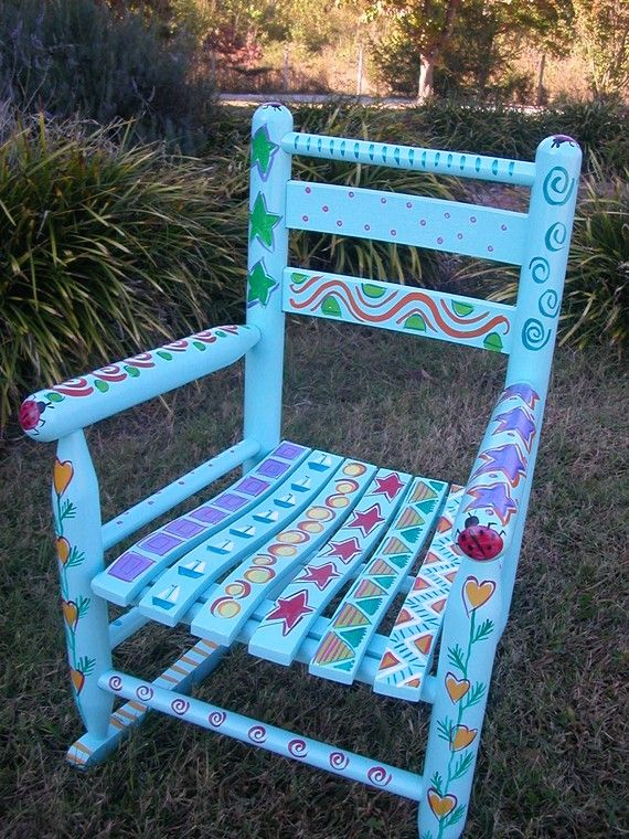 17 Best Images About Painted Rocking Chairs On Pinterest