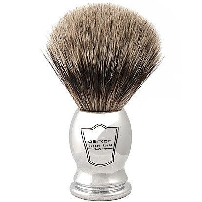 Chrome Handle Pure Badger Brush