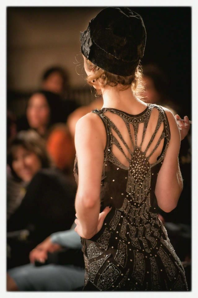 (detail)Authentic 1920's Art Deco dress... (at Lorraine O'Neal's Vintage Fashion Show).