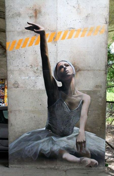 Street Art...in Warsaw, Poland, by Imp2K.