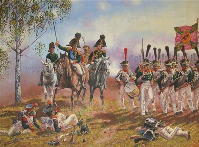 NAP- Russia: General P. I. Bagration at the Battle of Borodino (7 September 1812), by Alexander Leonov.