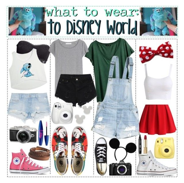 """""""What to wear: to Disney World!"""" by anna-wants-to-help-you ❤ liked on Polyvore featuring Dolce&Gabbana, H&M, Zara, Converse, Pieces, Chicwish, Eyeko, Vans, Acne Studios and Disney"""