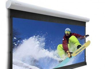 Как выбрать проекционный экран для проекторов - обзор рулонных, автоматических и складных на штативе с ценами