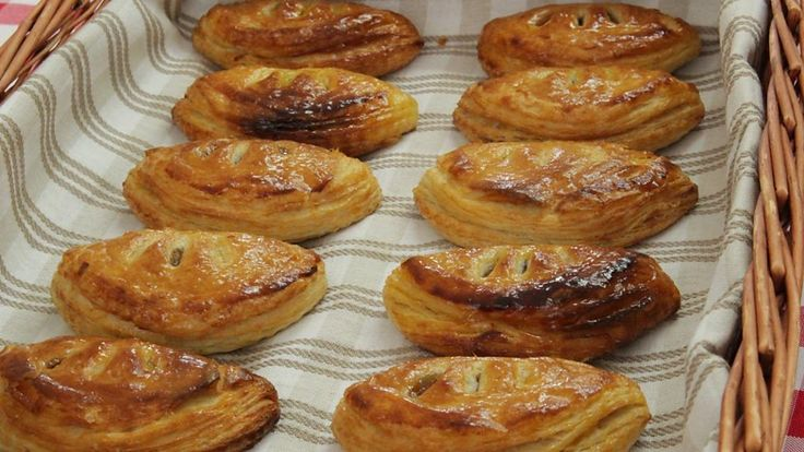 Luis Troyano's Apple, Walnut and Raisin Chaussons with Cheshire Cheese