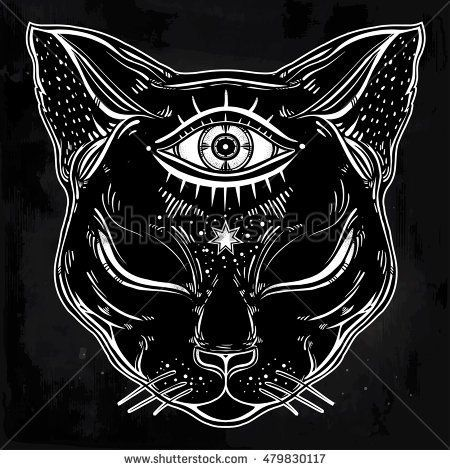 stock-vector-black-cat-head-portrait-with-moon-and-three-eyes-third-eye-is-open-cat-is-for-halloween-tattoo-479830117.jpg (450×470)