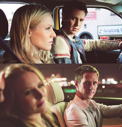 Logan & Veronica, then and now --Veronica Mars. My God I'm dying to see this movie! LoVe forever.