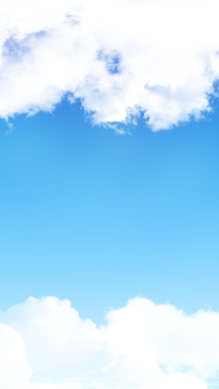 ↑↑TAP AND GET THE FREE APP! Lockscreens Art Creative Sky Clouds Blue White HD iPhone 6 Plus Lock Screen