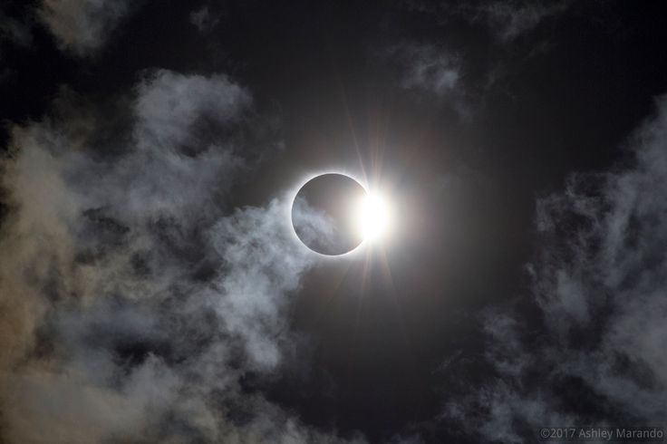 Diamond Ring in a Cloudy Sky