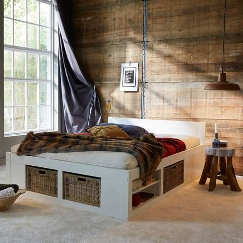Les 25 meilleures id es concernant lits rangement int gr sur pinterest p - Lit 1 personne avec sommier ...