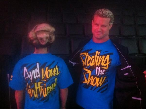 "Dolph Ziggler's new shirt ""Stealing the Show AND Your Girlfriend"" Lol..."