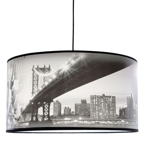 L mpara colgante motivos new york iluminacion for Decoracion led hogar