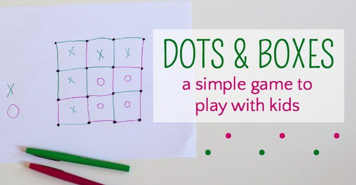 How to play Dots and Boxes. A very simple game that kids and grown-ups can play on the go, as a quick activity and easy indoor boredom buster.