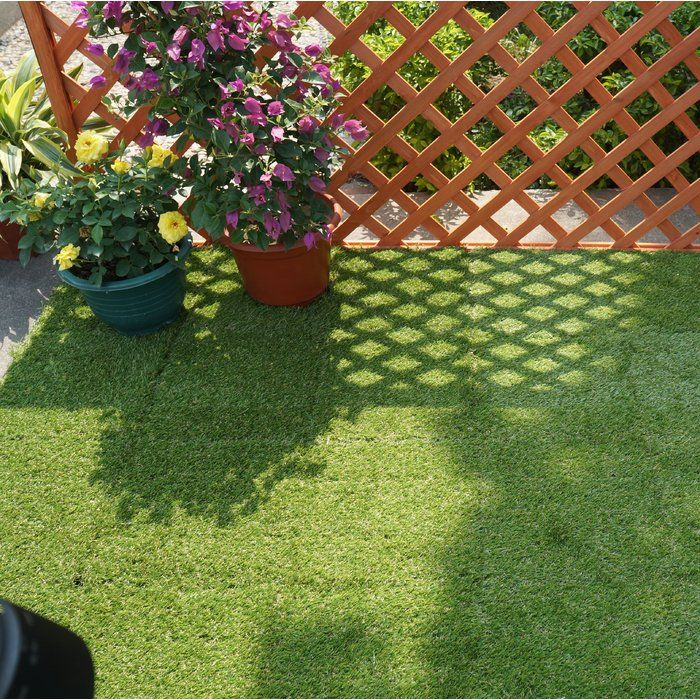 Courtyard 12 X 12 Plastic Interlocking Deck Tile In Green Deck Tile Interlocking Deck Tiles Outdoor Deck Tiles
