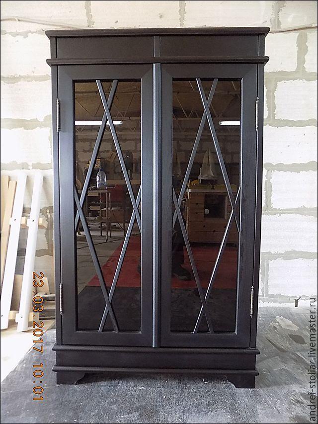 Купить Книжный шкаф (003) - черный, книжный шкаф, шкаф из дерева, шкаф на заказ