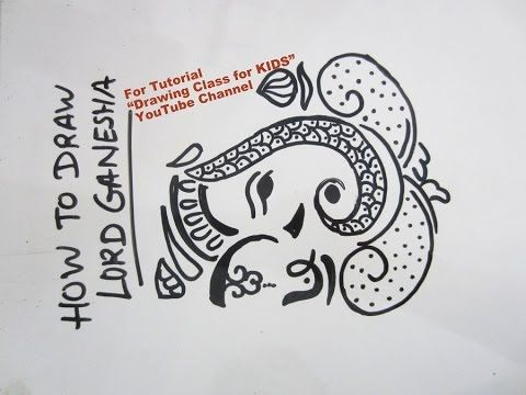 """YouTube easy Lord Ganesha ganpati drawing for kids. Search """"Drawing Class for KIDS"""" YouTube Channel for more Easy Drawing Tutorials for KIDS. #art #craft #hobby #artist #pencil #DIY #creative #flower #kids #school #project #bestfromwaste #innovative #beautiful #drawing #painting #easy #unique #origami #india #london #paris #canada #bombay #ahmedabad"""
