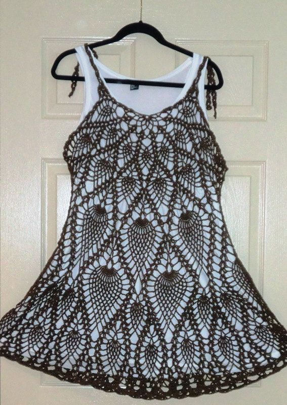 Crochet Layer Dress Made to Order  in any size and color with any modifications. $129.00, via Etsy.