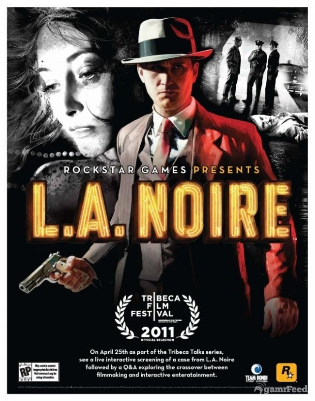 Tribeca Film Festival poster for L.A. Noire, first videogame to feature at the festival.