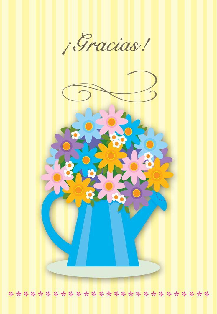 tarjetas de flores de agradecimiento para imprimir