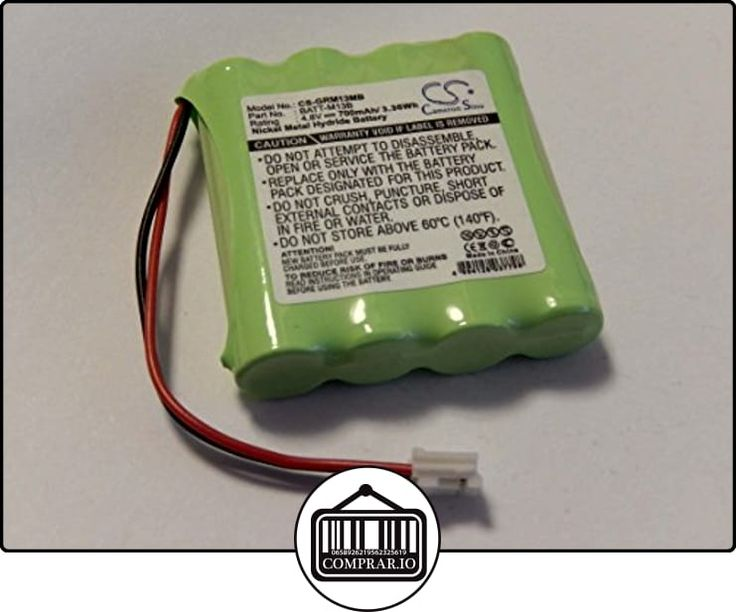 Batería Ni-MH 700mAh (4.8V) marca vhbw para Babyfon Babyphone Graco M, M13B8720-000 sustituye BATT-M13B.  ✿ Vigilabebés - Seguridad ✿ ▬► Ver oferta: http://comprar.io/goto/B00UREO6UO
