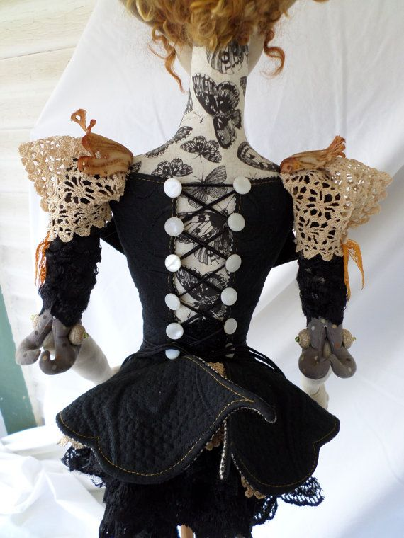 Cloth Doll Pattern  Clothing  Butterfly Peplum Corset Jacket