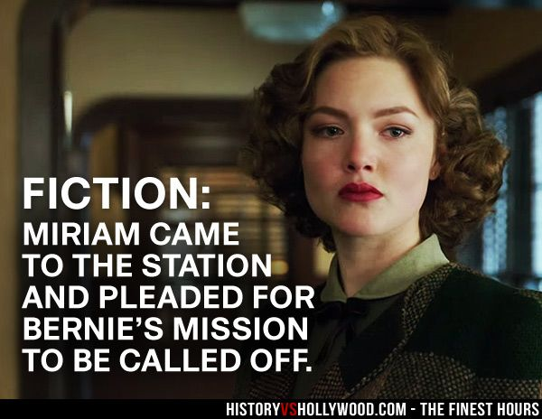 Holliday Grainger as Miriam in The Finest Hours Coast Guard movie. Read 'The Finest Hours: History vs. Hollywood' at: http://www.historyvshollywood.com/reelfaces/finest-hours/