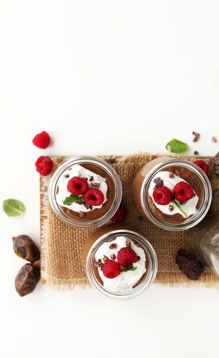 Шоколадный пудинг с семенами чиа