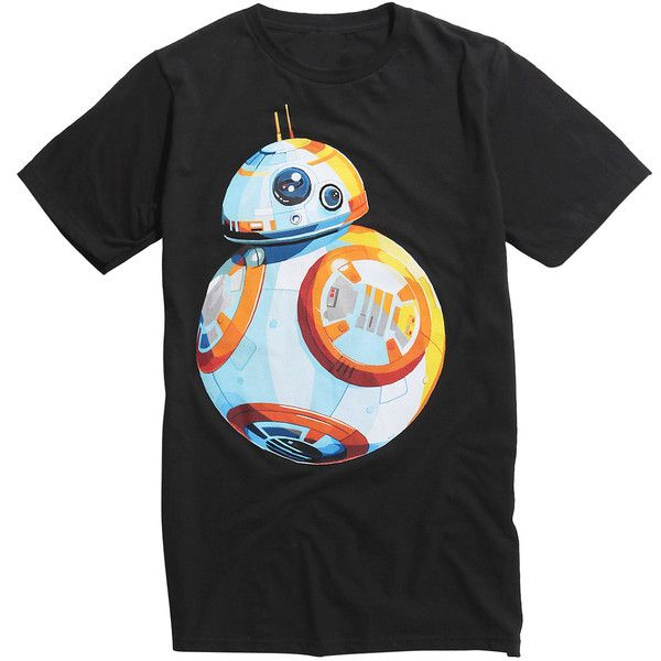 Hot Topic Star Wars: The Force Awakens BB-8 T-Shirt ($21) ❤ liked on Polyvore featuring tops, t-shirts, shirts, multi colored t shirts, multi colored shirt, multicolor t shirt, colorful shirts and t shirt