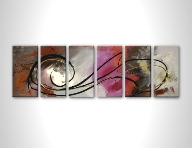 Wall art - modern abstract painting - contemporary abstract art - stretched painting ready to hang - multi panel. $235.00