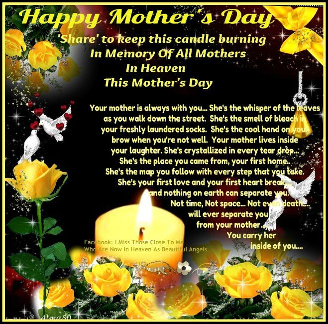 Happy Mother's Day for Mother's in Heaven | ~♡ Happy ...
