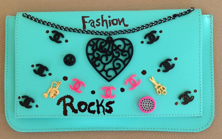 Fashion Rocks small leather bag