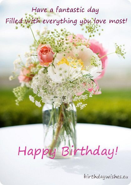 655 best birthday wishes images on pinterest happy birthday an ecard with a beautiful bouquet of wildflowers and greeting text on it m4hsunfo