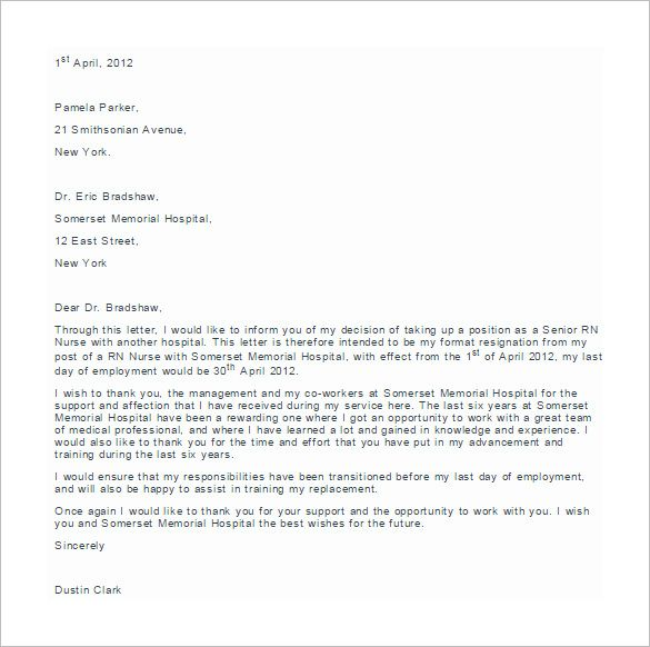 Best 25 Sample of resignation letter ideas on Pinterest