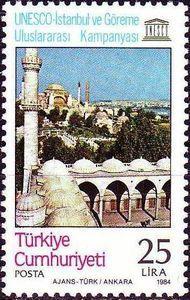 Hagia Sophia and the Minaret of the Sultanahmet Mosque, Istanbul 1984